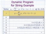 dynamic program for string example29