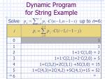 dynamic program for string example30