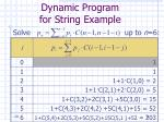 dynamic program for string example31