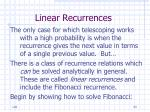 linear recurrences