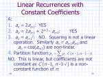 linear recurrences with constant coefficients50