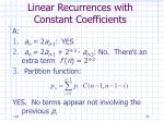 linear recurrences with constant coefficients52