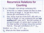 recurrence relations for counting8