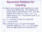 recurrence relations for counting9