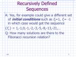 recursively defined sequences5