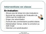 interventions en classe38