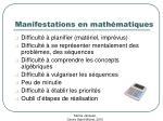 manifestations en math matiques