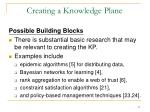 creating a knowledge plane