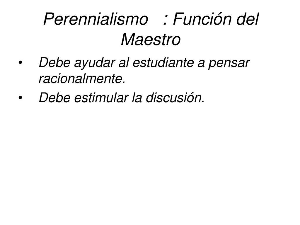 Perennialismo