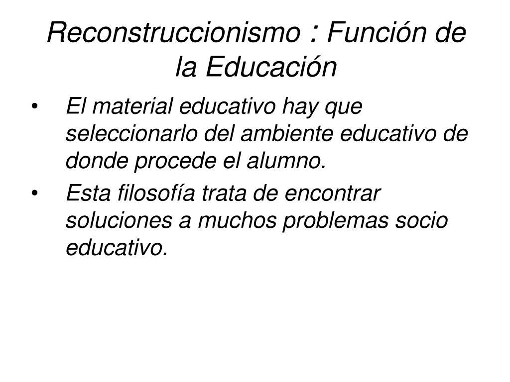 Reconstruccionismo
