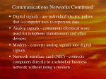 communications networks continued21