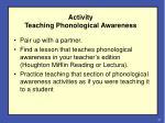 activity teaching phonological awareness