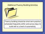 additional fluency building activities