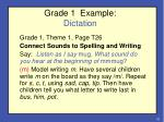 grade 1 example dictation