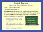 grade 2 example blending two syllable words
