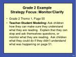grade 2 example strategy focus monitor clarify