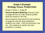 grade 3 example strategy focus predict infer