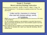 grade 3 example word learning strategy instruction