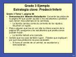 grado 3 ejemplo estrategia clave predecir inferir