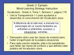 grado 3 ejemplo word learning strategy instruction
