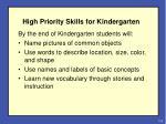 high priority skills for kindergarten1