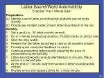 letter sound word automaticity example the 1 minute dash