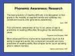 phonemic awareness research
