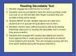 reading decodable text