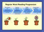 regular word reading progression