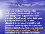 h 323 protocol