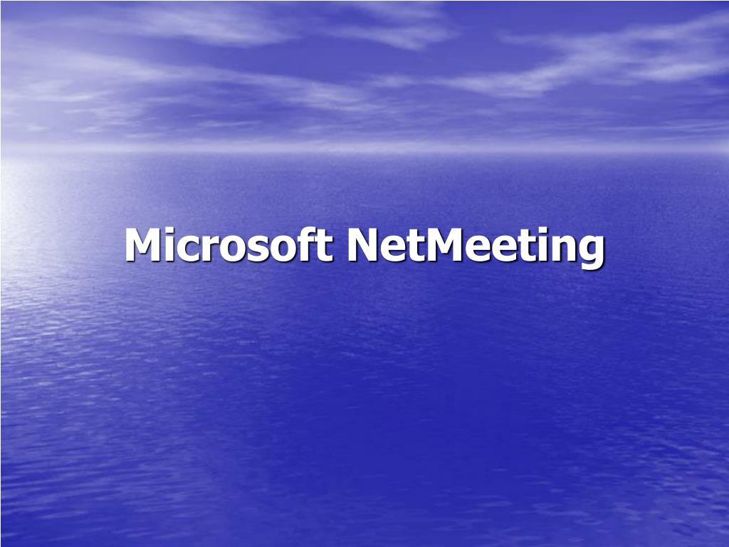 microsoft netmeeting l.