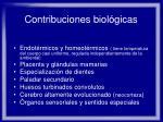 contribuciones biol gicas