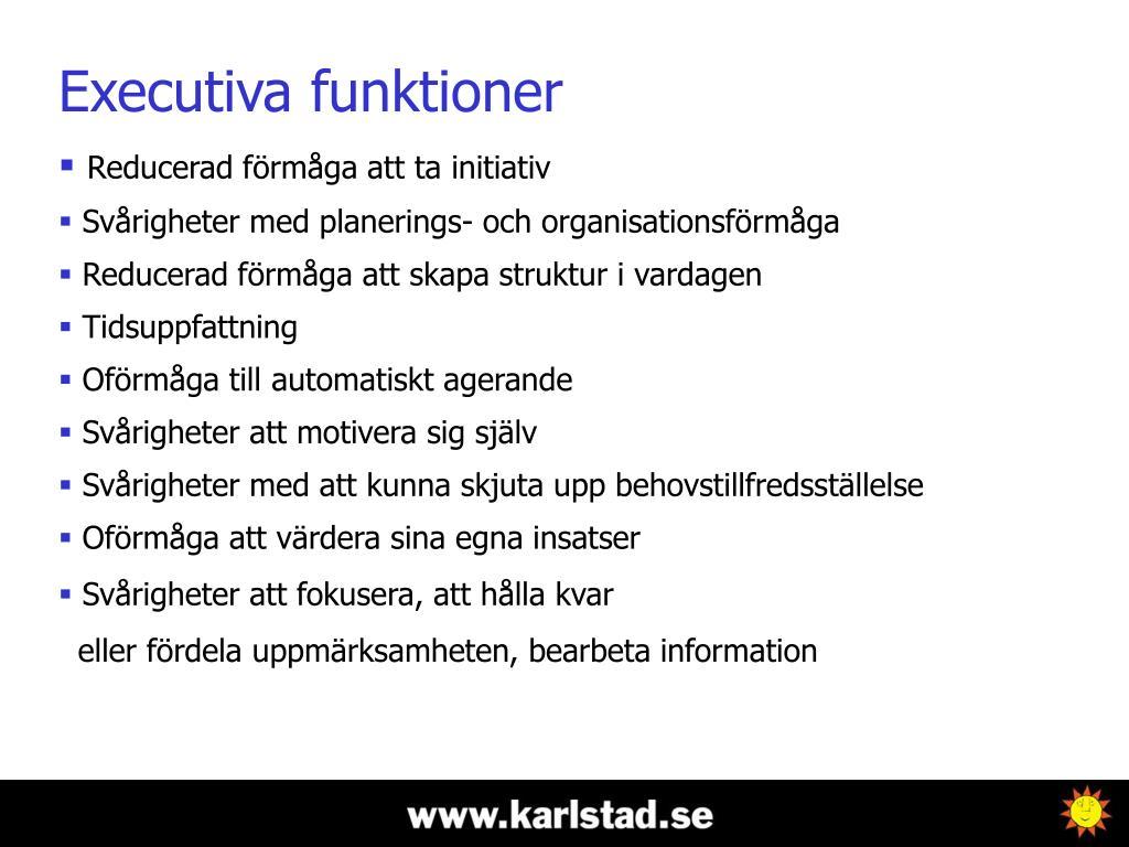 Executiva funktioner