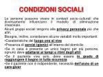 condizioni sociali