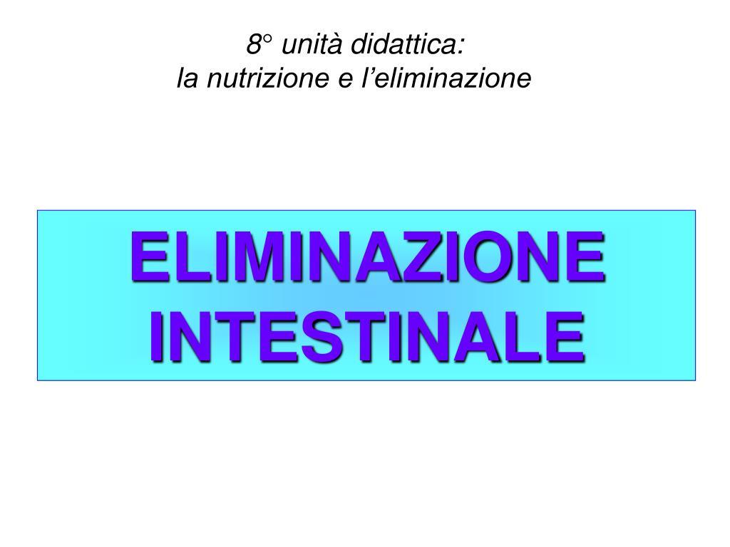 eliminazione intestinale l.