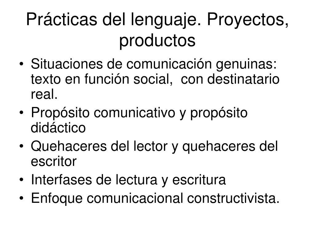 pr cticas del lenguaje proyectos productos l.