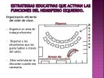 estrategias educativas que activan las funciones del hemisferio izquierdo