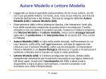 autore modello e lettore modello
