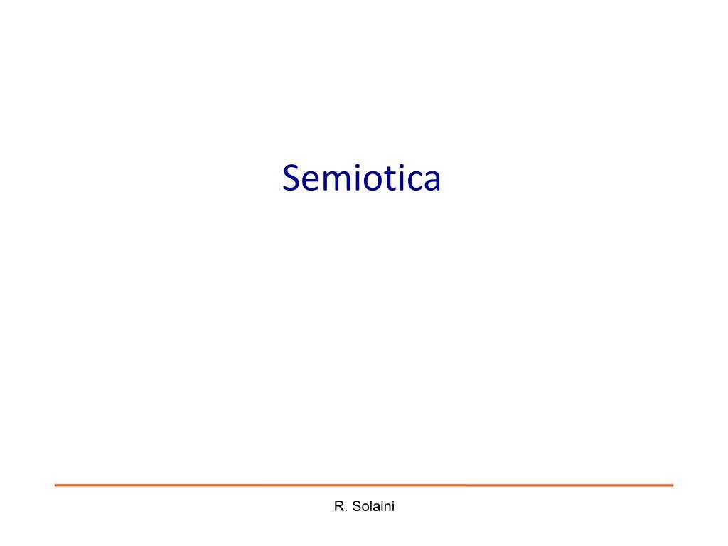semiotica l.