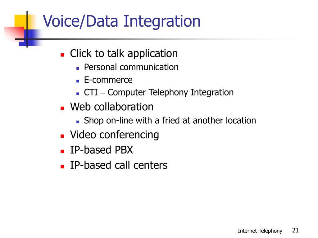 Voice/Data Integration
