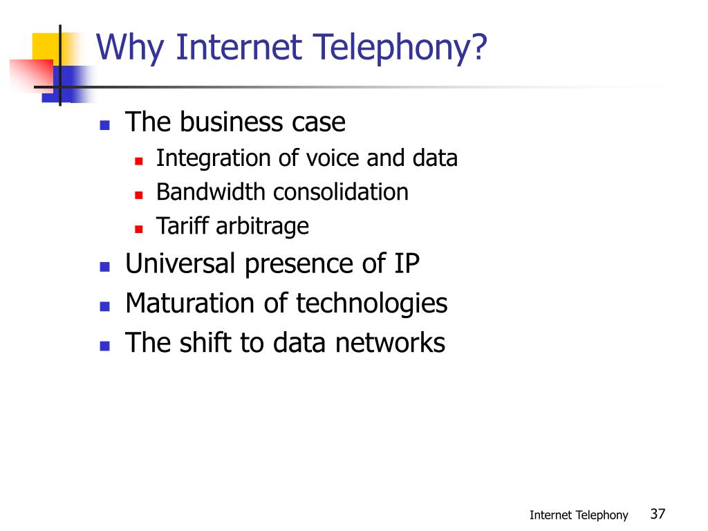 Why Internet Telephony?