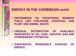 energy in the caribbean contd