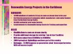 renewable energy projects in the caribbean