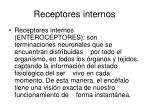 receptores internos