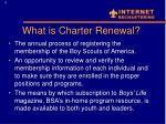 what is charter renewal