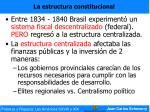la estructura constitucional