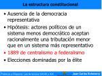 la estructura constitucional43