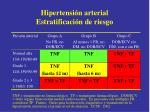 hipertensi n arterial estratificaci n de riesgo