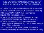 azucar marcas del producto base icumsa color del grano