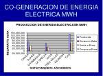 co generacion de energia electrica mwh